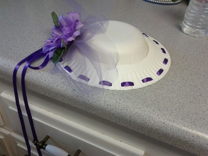 Tea Hat Made With Paper Plate And Bowl