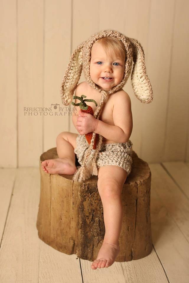 Bunny Hats, Floppy Ears Bunny, Newborn Bunny Hat, Baby Bunny Hat, Bunny Bonnet, Beige Bunny, Crochet Bunny Hats, Newborn Photo Prop, Easter by PreciousMomentsProps on Etsy