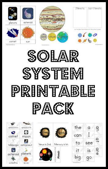 Solar System Printable Pack Worksheets Amp Printables For