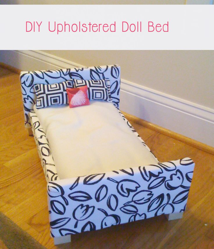 here's a really simple tutorial for a bed for 18-inch dolls.  Tutorial includes plans complete with all measurements!  This is just so cute!  Anyone thinking Easter gift??!?!??!!!??