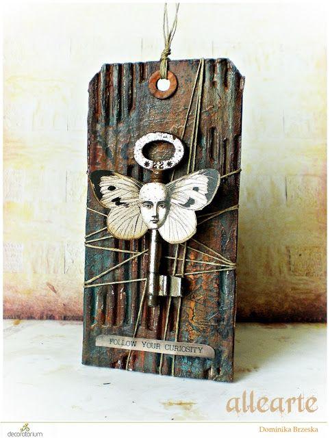 decoratorium: Inspiracja Dominiki - zardzewiały blaszany tag + TUTORIAL