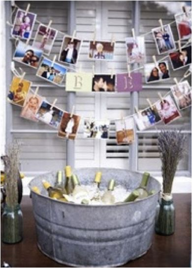 Cute decor idea. Put baby pics of couple
