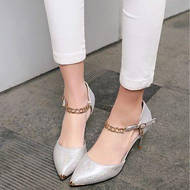Zapatos de mujer - Tacón Stiletto - Tacones / Puntiagudos - Tacones - Vestido - Semicuero - Azul / Rosa / Blanco 2016 - $39.99