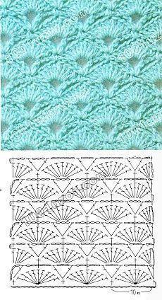 1001 Muster. Häkelanleitungen. Muscheln und Fans #hakelanleitungen #knittingmo