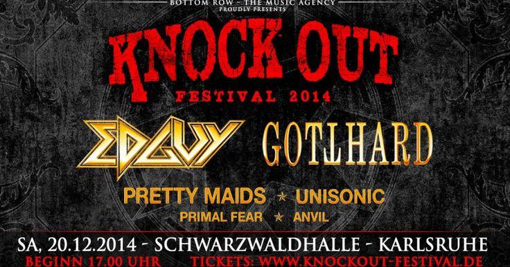 Hard Rock Festival  Knock Out Festival 2016 | 17.12. Schwarzwaldhalle Karlsruhe, Germany