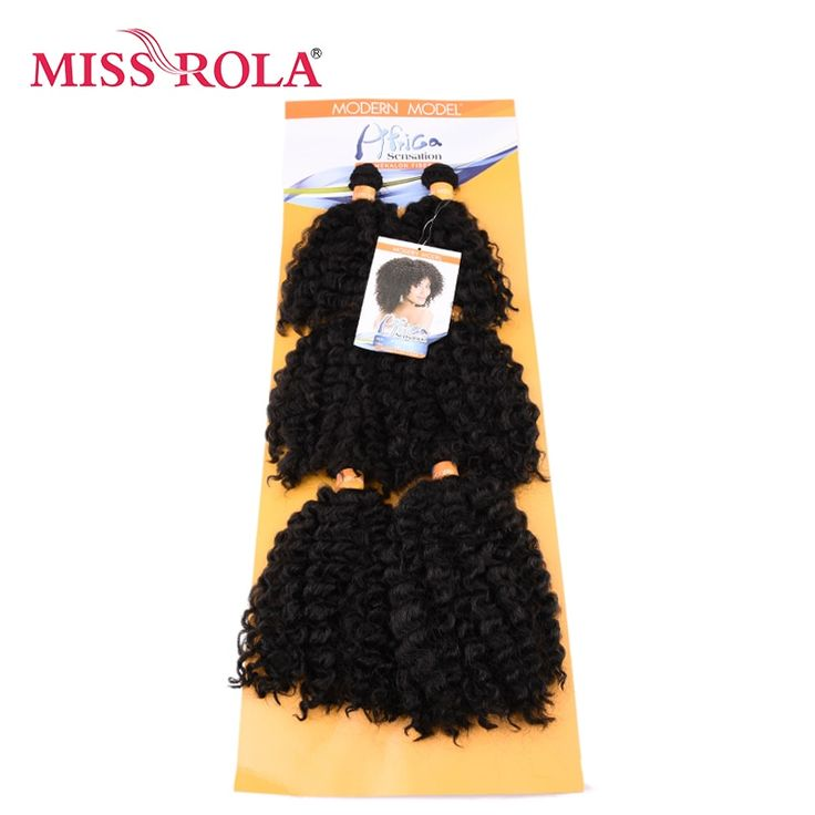 Miss Rola Short Wavy Double Hair Weft Weave 100% K…