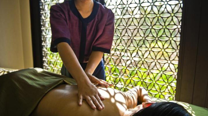 Massage på Banyan Tree Samui i Thailand