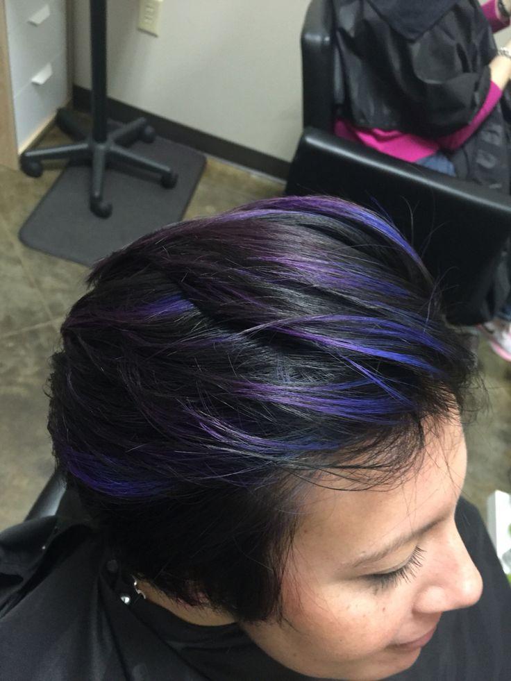 Blue purple hair love pravana Vivids Brazilian bond builder b3