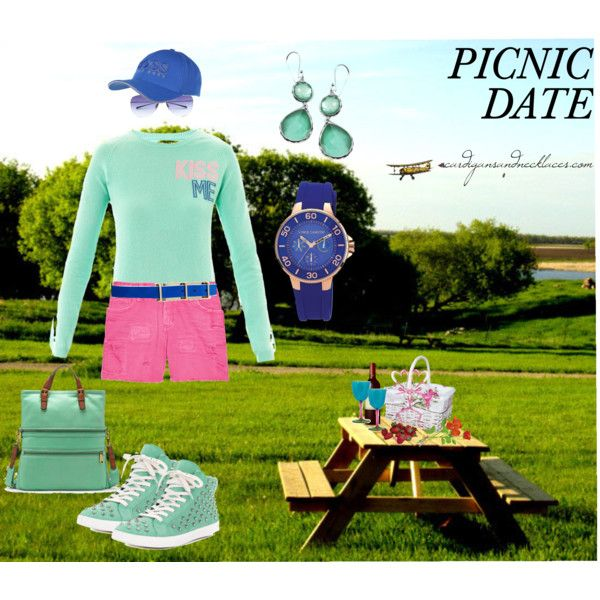 """Valentine's Day Picnic Date Outfit"" by cardigansandnecklaces.com"
