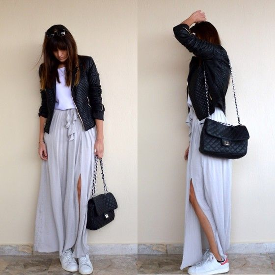 New Era on thevirgostyle.blogspot.gr #thevirgostyle #blog #greece #greek #blogger #love #like #ootd #style #fashion #outfit #lookbook #maxi #skirt #stansmith #adidas #sneakers #leather #jacket