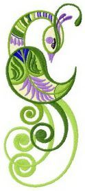 Fantastic swamp bird machine embroidery design. Machine embroidery design. www.embroideres.com