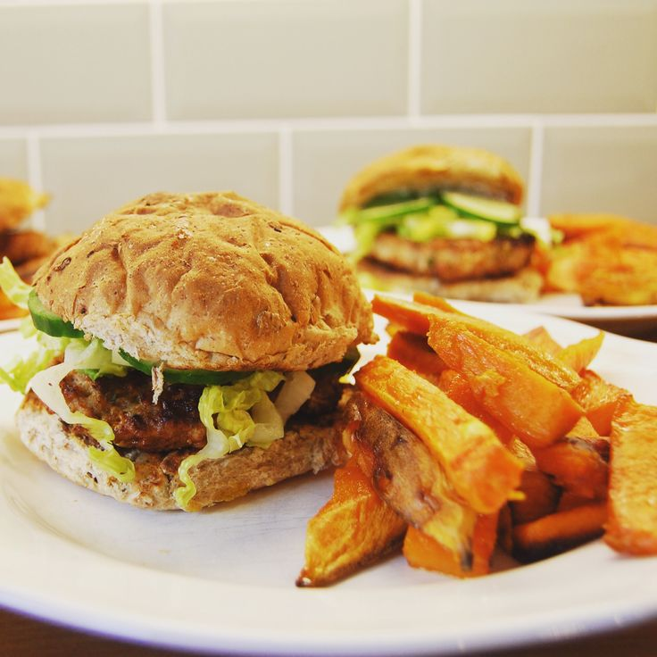 Burger and chips the healthy way recipe
