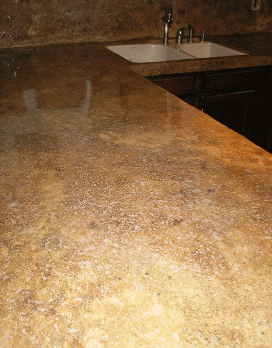 Stained Concrete Counter Tops Like This Color Would Look