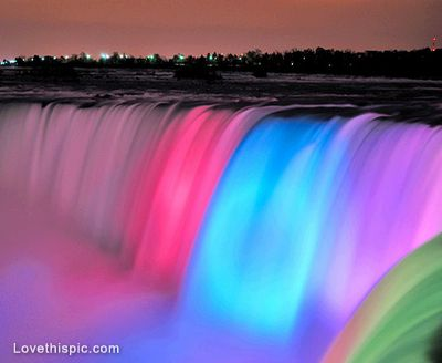 Colorful Falls Photography Cities Sky Lights Water