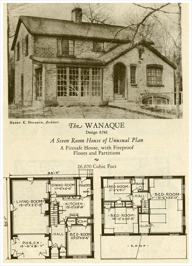 American eclectic style - The Wanaque - 1927 Brick Homes of Lasting Charm