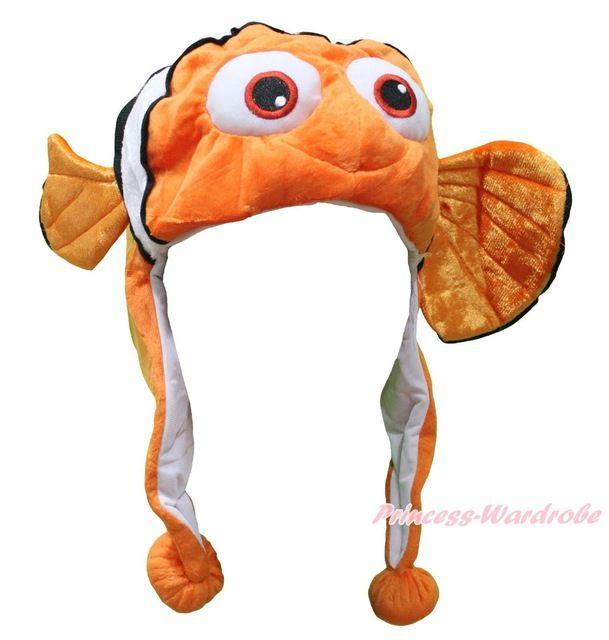 Festa di halloween arancione pesce pagliaccio nemo del fumetto capretti unisex adult costume h861