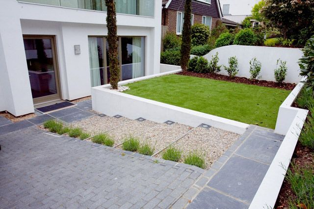 8 best sloped driveways images on pinterest driveways for Sloped driveway options