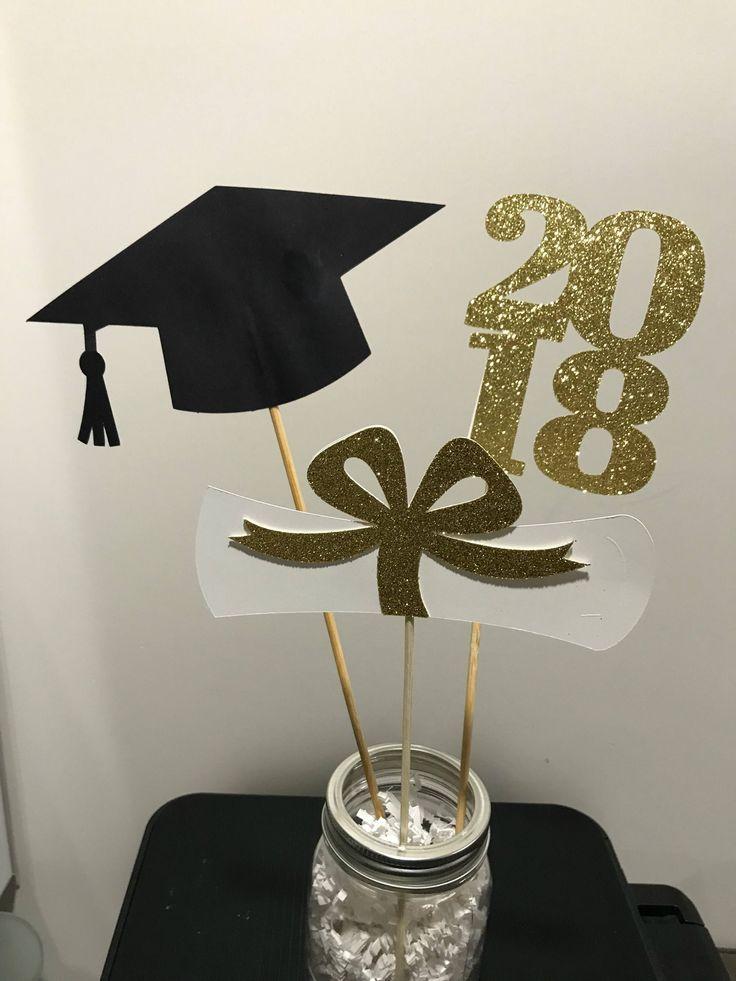 Best 25 grad party centerpieces ideas on pinterest for Graduation decorations