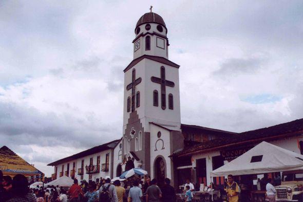 Colombia - Armenia, Salento, church