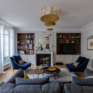 Véronique Cotrel | De les canapés à l'éclairage audacieux, tout est vraiment incroyable. architecture d'intérieur, projets de décoration, idées déco