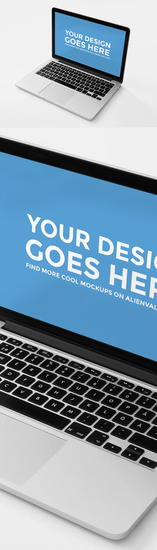 Free Macbook Pro Mockup | alienvalley.com | #free #photoshop #mockup
