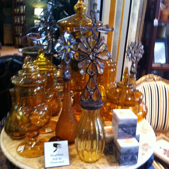 Amber Glass Jars CA