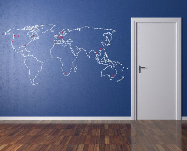 26 best World maps images on Pinterest World maps, Child room and - fresh world map outline decal