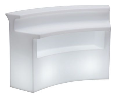 Bar lumineux Break Bar / Pour iIntérieur & extérieur - L 175 cm Blanc - Slide