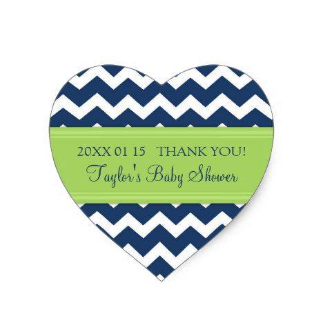 Blue Green Chevron Baby Shower Favor Stickers #chevron #craft #supplies