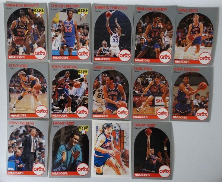 1990-91 Hoops Cavaliers Team Set Of 14 Basketball Cards (Missing #76 Mokeski)  #ClevelandCavaliers