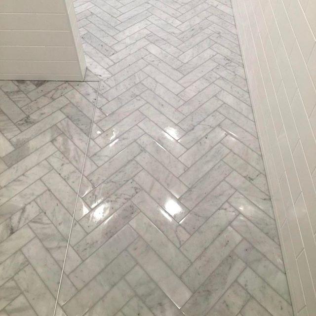 The most incredible floor at our Five  Dock job. Razor like precision on this incredible renovation.   #tiles #likeaboss #bathroom #bathroomideas #bathroomrenovation