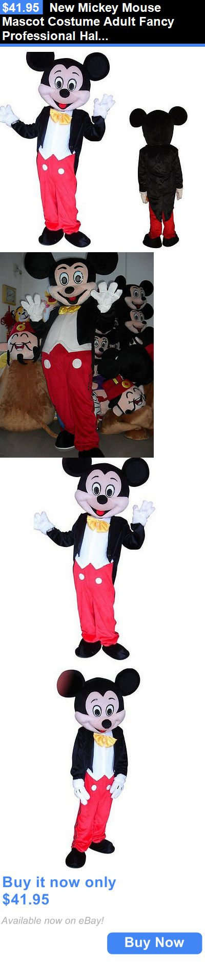 Halloween Costumes: New Mickey Mouse Mascot Costume Adult Fancy Professional Halloween Size Ca Hot BUY IT NOW ONLY: $41.95