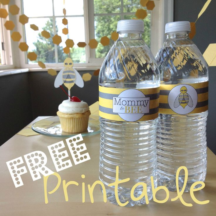 "Get an adorable FREE printable for a ""Mommy to Bee"" baby shower! The perfect way to complete the decorations for your baby shower. Coordinating items also available."