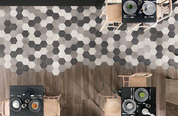 テラコッタ×コンクリートを融合した磁器質タイル