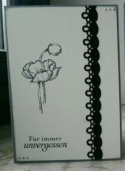 Trauer & Beileid - Trauerkarte Mohn - ein Designerstück von Creacolorina bei DaWanda