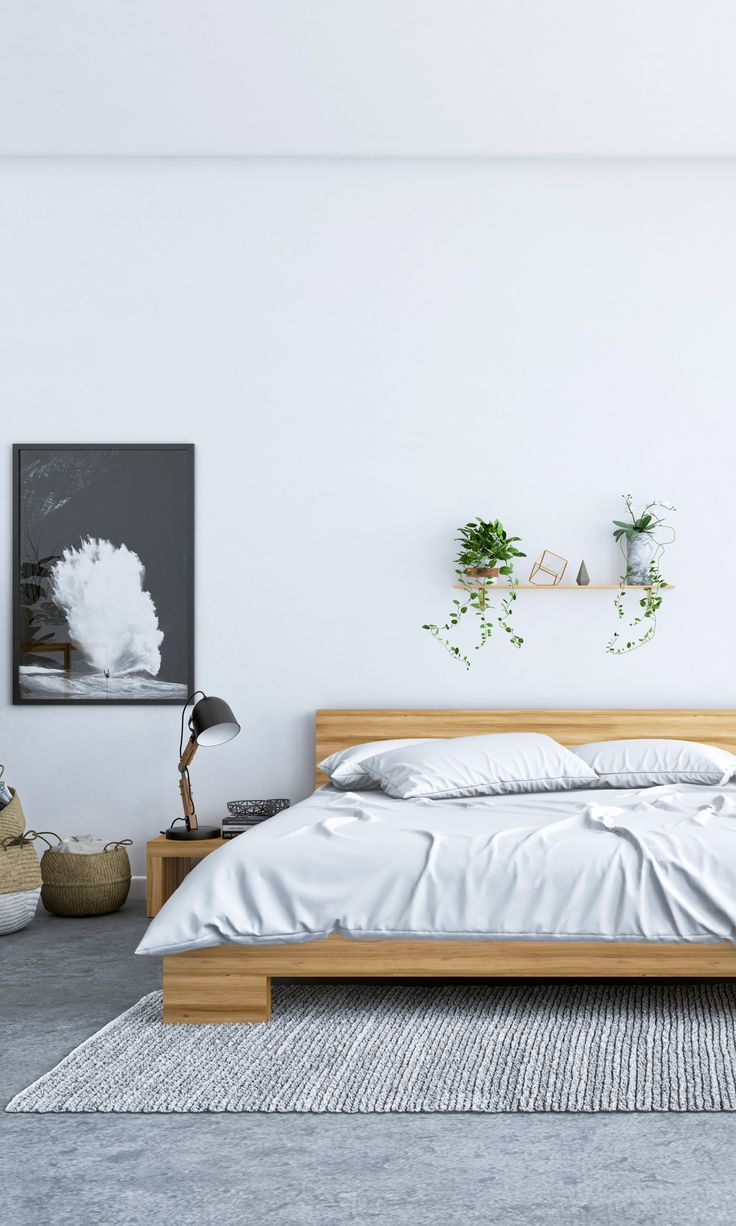 Sleep well with the Fredrik Bed and Night Stand set from Kure
