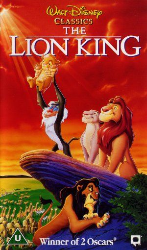 British vhs cover for The Lion King