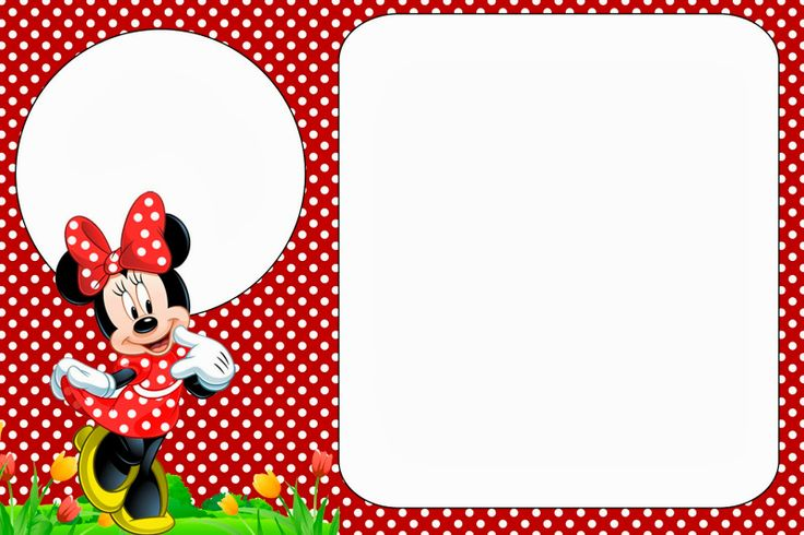 minnie in red: free printables and party invitations. right click, Printable invitations