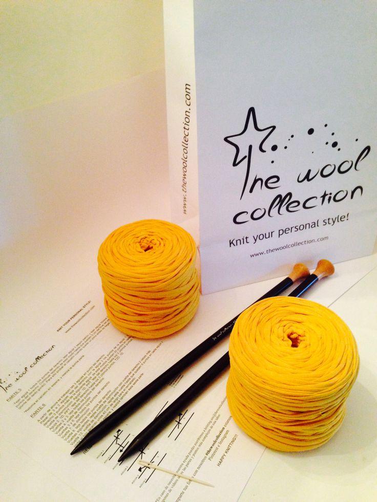 Kit de trapillo incluye: patrón del modelo elegido, agujas de tejer, aguja lanera, ovillos de trapillo necesarios