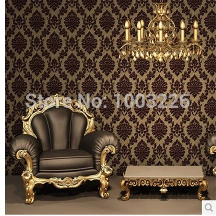 58.08$  Watch here - http://ali55v.worldwells.pw/go.php?t=32292352673 - Europe Classic Luxury Flocking DAMASK Velvet Wallpaper WallCoverings Roll For TV Background Wall Decor papel de parede 58.08$