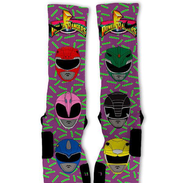 Power Rangers Custom Nike Elite Socks