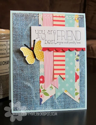 Pebbles, Fresh Goods Collection: Cards Ideas, Best Friends, Friends Cards, Banners Cards, Cards Inspiration, Layered Banners, Cards Bann, Cards Scrap, Paper Crafts