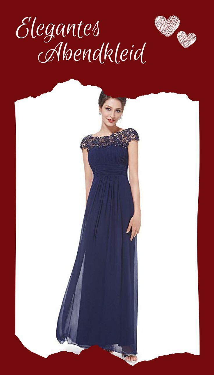 bodenlanges abendkleid in eleganter a-linie. dieses kleid