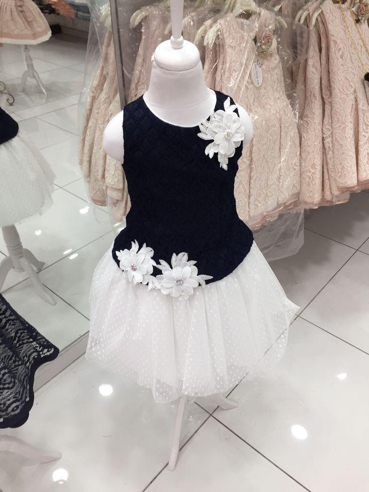 Rochita bleumarin pentru fetite ! Annebebe tinute elegante pentru copii