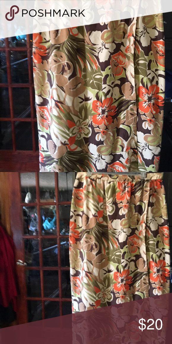 Josephine Chaus sport Hawaiian skirt Medium midi length 100o/o silk made in China hand wash cold Josephine Chaus sport Skirts Midi