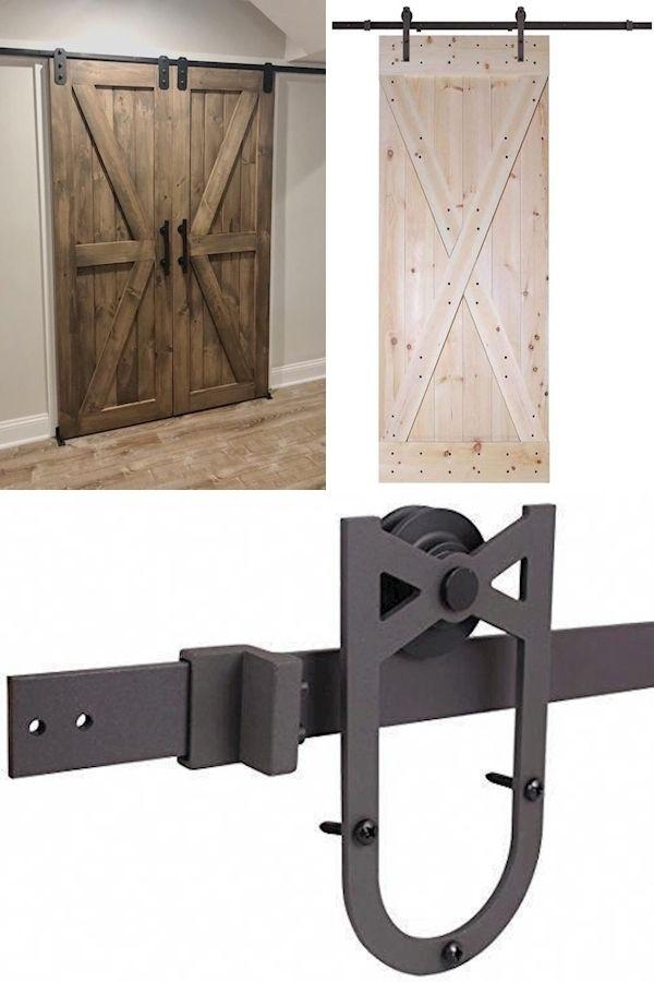 Bedroom Barn Door Barn Sliding Door Hardware Heavy Duty Sliding Barn Door Style Closet Doors In 2020 Barn Door Sliding Barn Door Barn Door Hardware