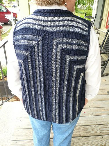All the Right Angles back of mitred vest