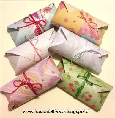 Tre Confetti Rosa - Bomboniere handmade: Scatoline porta cioccolatini
