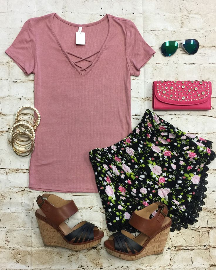 Ribbed Criss Cross Top: Rose from privityboutique