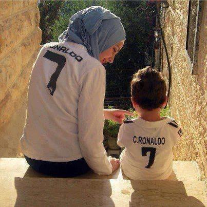 Cute and Romantic Muslim Family